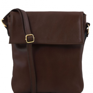 Tuscany Leather TL141511 Morgan - Leather shoulder bag Dark Brown