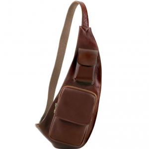 Tuscany Leather TL141352 Monospalla in pelle Marrone