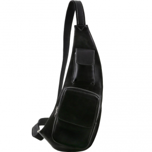 Tuscany Leather TL141352 Leather crossover bag Black
