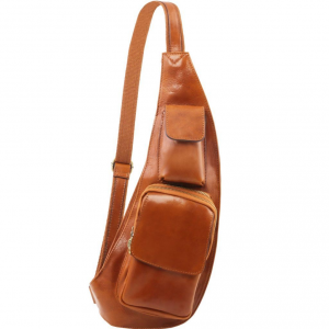 Tuscany Leather TL141352 Leather crossover bag Honey