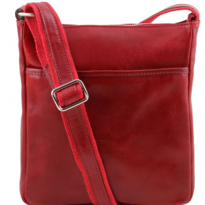 Tuscany Leather TL141300 Jason - Borsello da uomo in pelle Rosso