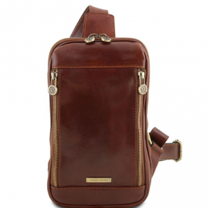Tuscany Leather TL141536 Martin - Leather crossover bag Brown