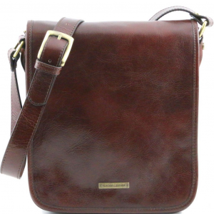 Tuscany Leather TL141255 TL Messenger - Sac bandoulière en cuir 2 compartiments Marron
