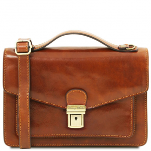 Tuscany Leather TL141443 Eric - Leather Crossbody Bag Honey