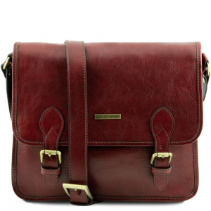 Tuscany Leather TL141288 TL Postman - Sacoche facteur en cuir Marron