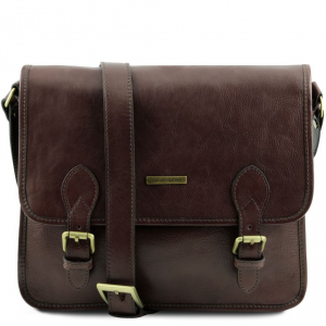 Tuscany Leather TL141288 TL Postman - Leather messenger bag Dark Brown