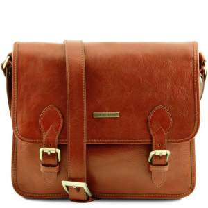 Tuscany Leather TL141288 TL Postman - Leather messenger bag Honey