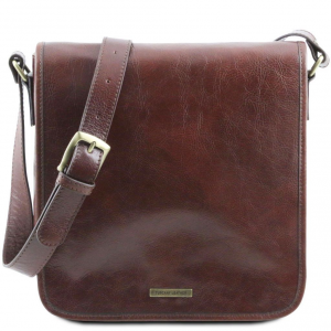 Tuscany Leather TL141260 TL Messenger - One compartment leather shoulder bag Brown
