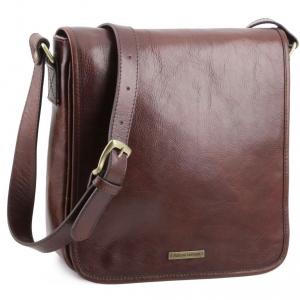 Tuscany Leather TL141260 TL Messenger - Sac bandoulière en cuir 1 compartiment Marron