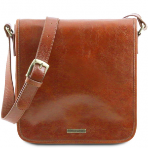Tuscany Leather TL141260 TL Messenger - Sac bandoulière en cuir 1 compartiment Miel