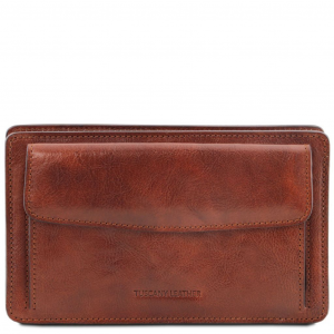 Tuscany Leather TL141445 Denis - Esclusivo borsello a mano in pelle Marrone