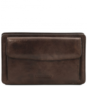 Tuscany Leather TL141445 Denis - Esclusivo borsello a mano in pelle Testa di Moro