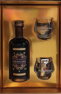 Confezione Amaro Bepi Tosolini con bicchieri degustazione