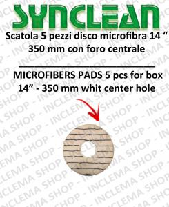PAD microfibra da 14 pollici 350 mm con foro centrale 5 pezzi per scatola Synclean