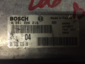 ECU CENTRALINA MOTORE PEUGEOT 206 1.6 2000 Bosch Engine ECU 0261206216 9632693980