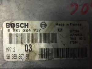 ECU Centralina Motore Peugeot 306 1.6i 9630986780, 96 309 867 80, 0261204717, 0 261 204 717