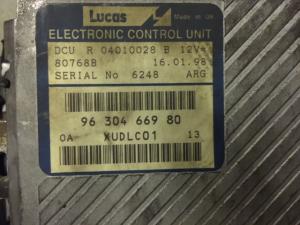 ECU CENTRALINA RENAULT LUCAS R04010028B 9630466980 80768B