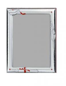 Portafoto Laurea in argento per foto 18x24cm cm.24x18