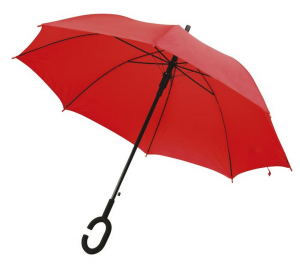 Ombrello Rosso automatico con impugnatura C cm.102x102x88h