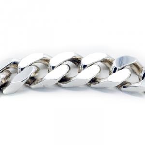 Bracciale argento maglia barbazzale