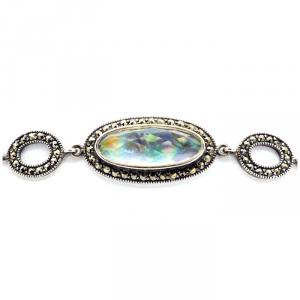 Bracciale argento con opale e marcassiti