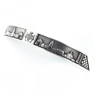 Bracciale Pistoia con bassorilievo in argento