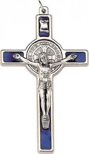 Croce metallo S. Benedetto cm. 5 con laccio