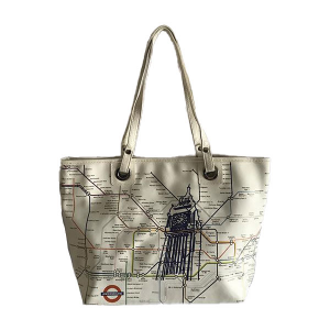 Shopper Line Woman Turistica and Map / Metro Merinda
