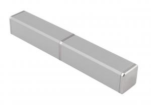 Contenitore in alluminio argento per penna cm.2,2x2,2x14,8h