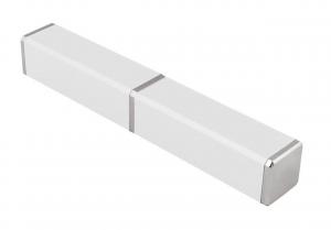Contenitore in alluminio Bianco per penna cm.2,2x2,2x14,8h