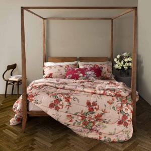 Trapunta invernale matrimoniale 2 piazze TWINSET Secret Garden floreale rosa