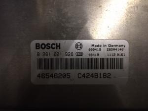 ECU Centralina Motore Bosch Fiat Marea Bravo Brava 1.9 JTD 0281001928, 0 281 001 928, 46546205