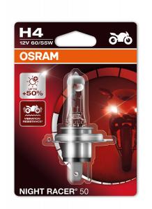 LAMPADINA +50% LUMINOSITA' OSRAM H4 NIGHT RACER 12V 60/55W P43T E036419367