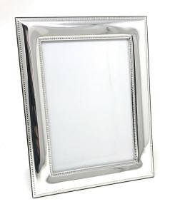 Porta Foto in Argento stile Perles per foto 20x24 cm.33,5x29