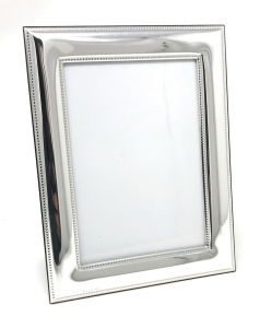 Porta Foto in Argento stile Perles per foto 13x18 cm.24x20