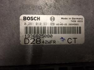 ECU Centralina motore FIAT DUCATO PEUGEOT BOXER 2.8 JTD BOSCH 0 281 010 931, 0281010931, 1336825080