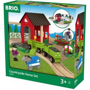 BRIO set ferrovia di campagna con cavallo 33790 RAVENSBURGER