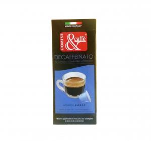 CAPSULE CAFFE' COMPATIBILI NESPRESSO DECAFFEINATO 10 PZ PER SCATOLA
