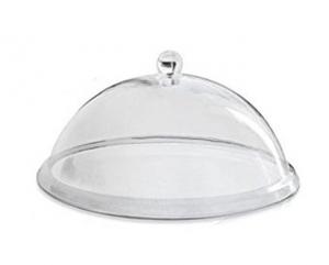 Campana Cloche Coprivivande in policarbonato con pomolo cm.17,5h diam.35,5