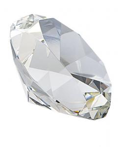 Fermacarte Diamante Cristallo Bianco cm.8h diam.10