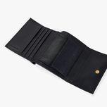 Mini portafoglio donna Coccinelle in pelle martellata blu