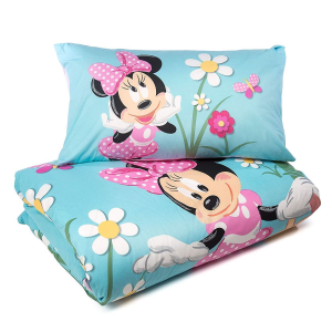 Disney Set Copripiumino Minnie Mouse Country Caleffi singolo cotone