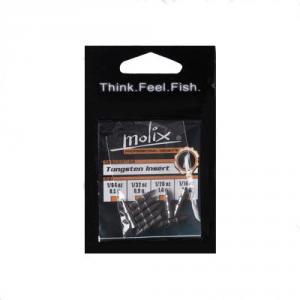 Molix Insert Tungsten Silver 1/32 Oz Black - Leads Fishing