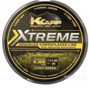 K-KARP Fil XTR Camo Mauvaises herbes 1000 m 0.405 mm Vert - Fils Et Fils Pêche