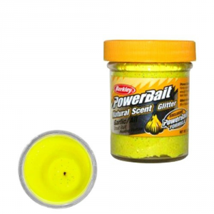 Berkley Pasta Powerbait Natural Scent Glitter Garlic Yellow