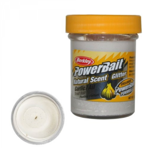 Berkley Pasta Powerbait Natural Scent Glitter Garlic White