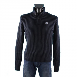 North Sails Sweater Man Olivier Wool Cotton 3 Buttons Casual 69 8243-85