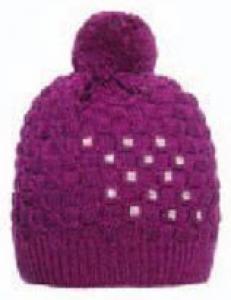MARINI SILVANO Berretto donna con strass Cappelli sci Sci 61462715 PRUGNA