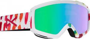 Anon Mask Snowboarding Woman Helix 2.0 + Lens White Fantasy