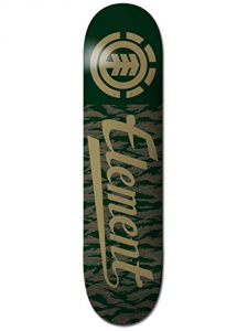 'ELEMENT Deck Script Tiger 8.25'' nero verde - Deck skateboard'